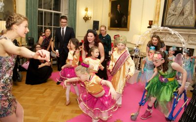 Flamingo Chicks dazzle Downing Street with a dance celebration to showcase #balletnotbarriers
